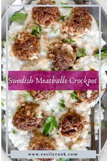 easy swedish meatballs crockpot