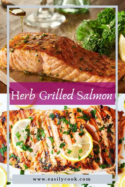 herb grilled salmon