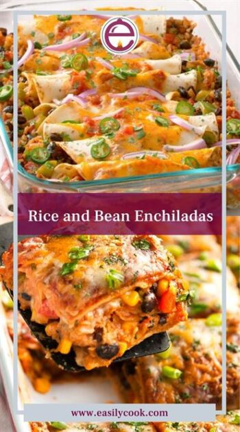 Rice and Bean Enchiladas