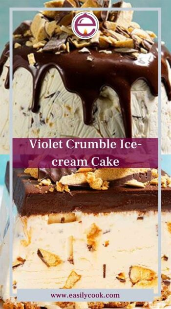 Violet crumble ice cream cake